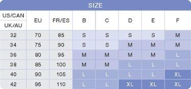 Comfy Bra size chart