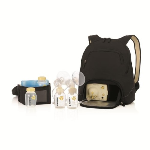 2638864db52e0 Medela s Pump In Style Double Electric Breast Pump is discreetly integrated  into a self-contained into either an attractive tote bag or backpack that  packs ...
